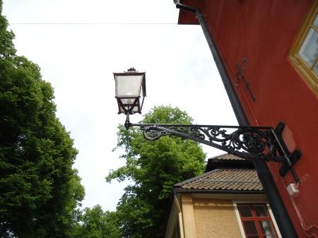 Old street lamp in Nyköping